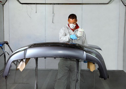 Auto Body Painting Great Dunmow, Essex - painting car panel